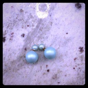 Double Pearl Post earrings Mise
